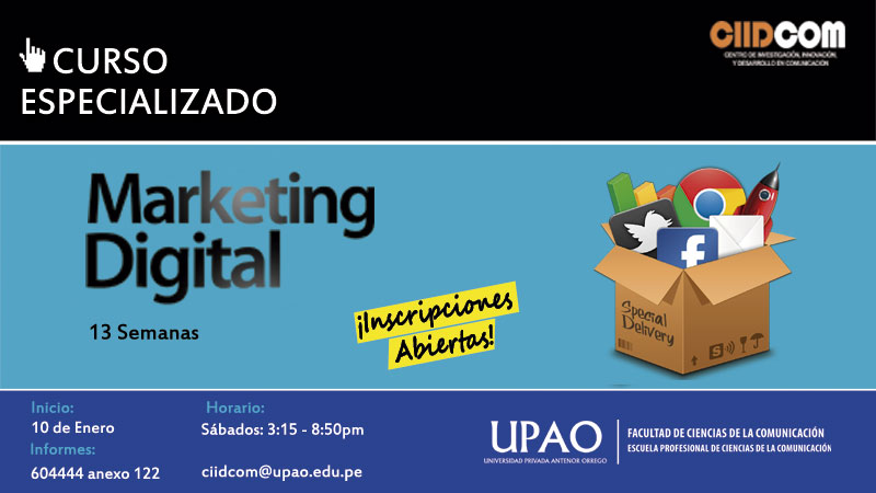 CURSO ESPECIALIZADO DE MARKETING DIGITAL