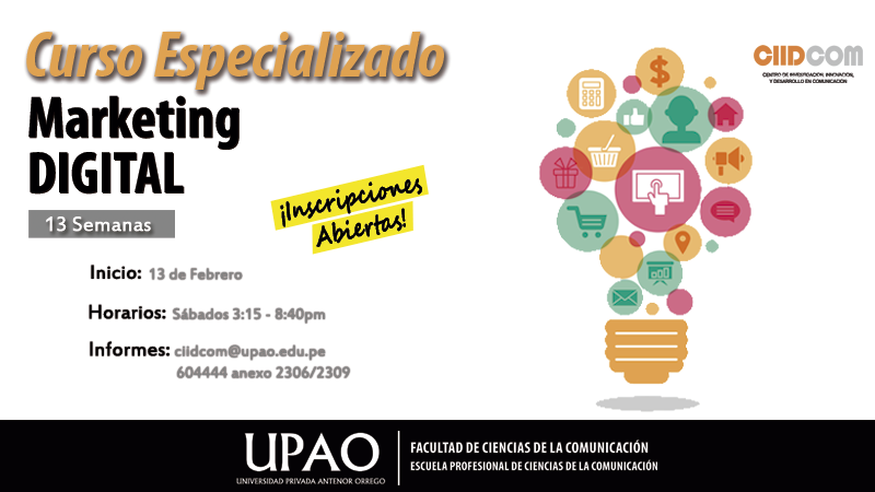CURSO ESPECIALIZADO MARKETING DIGITAL 2016