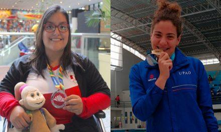 Jéssica Cattaneo y María de Jesús Trujillo reciben antorcha de Panamericanos Lima 2019